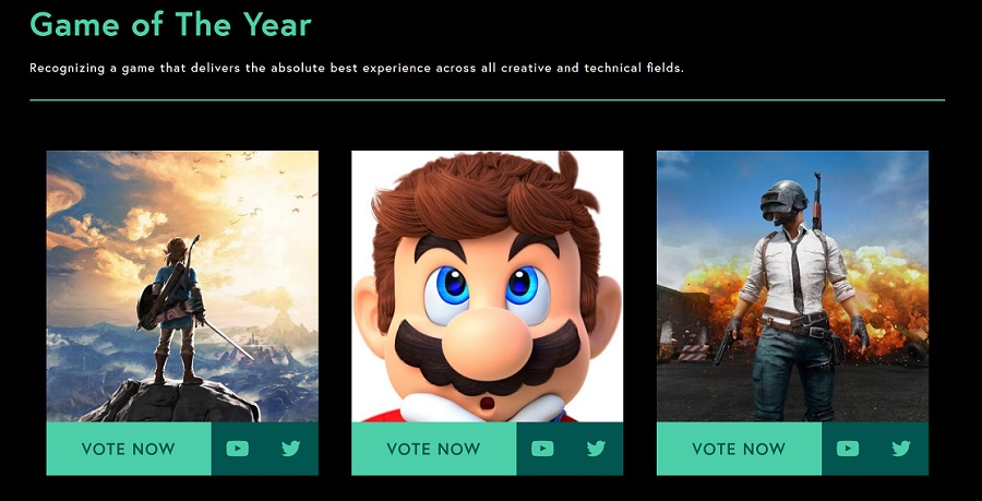 Named the best video games of this year
