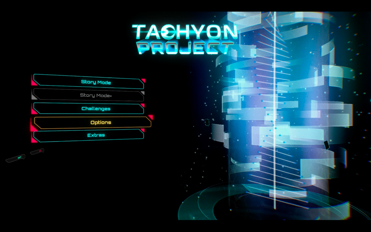 Tachyon Project Title Screen Switch