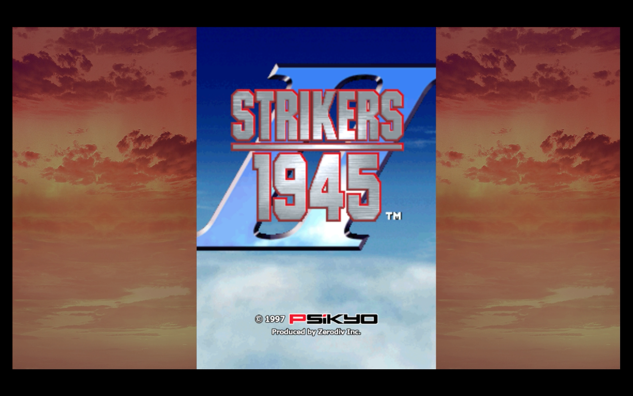 Strikers 1945 II title screen