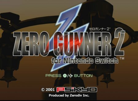 Title screen of Zero Gunner 2 for Switch