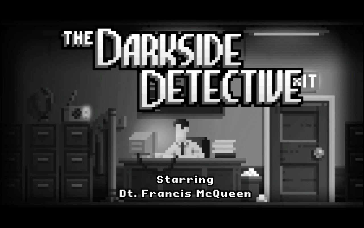 darkside detective title screen