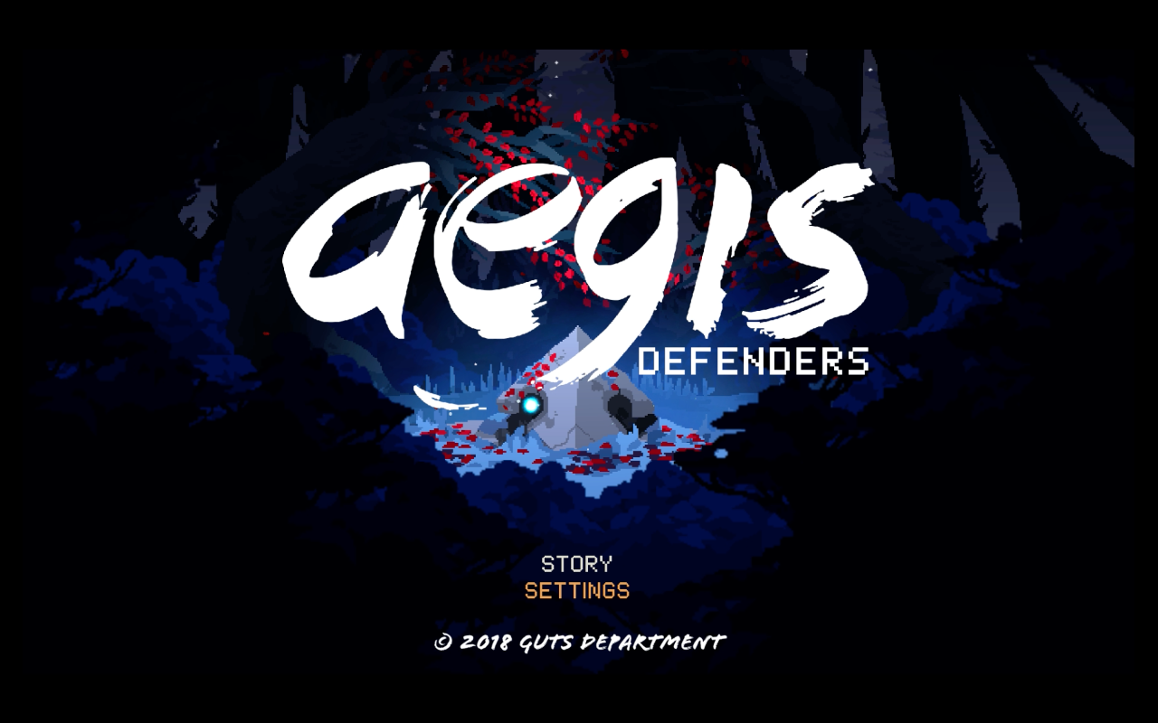 aegis defenders title screen