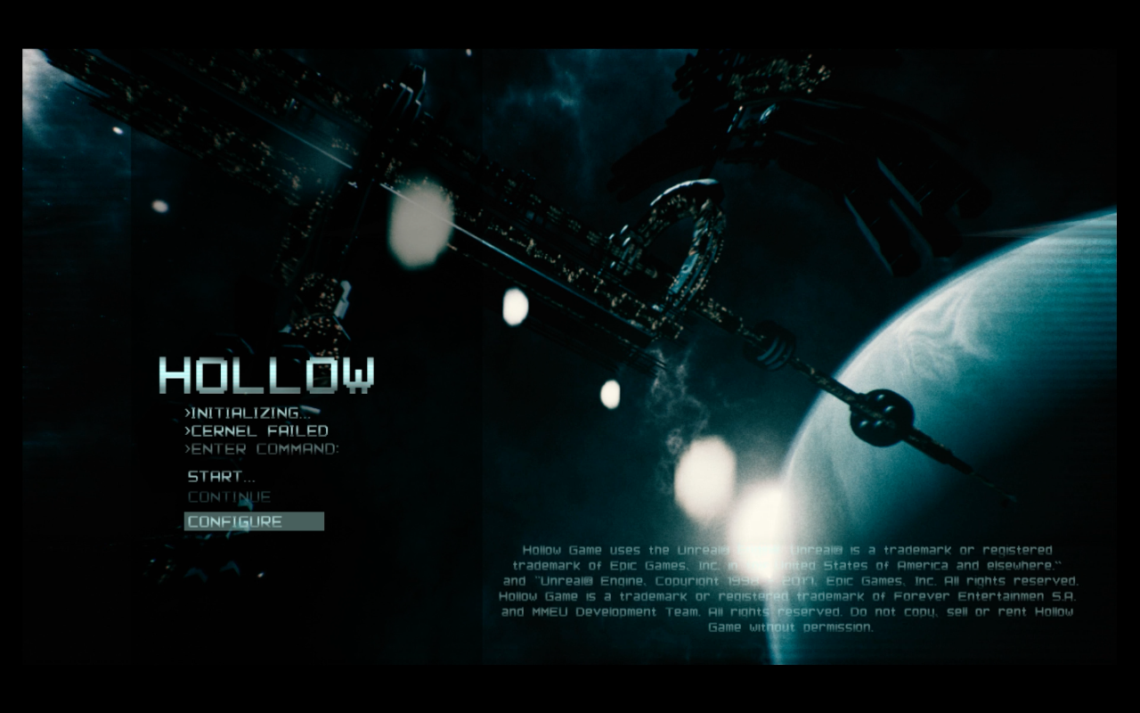 Hollow Title Screen