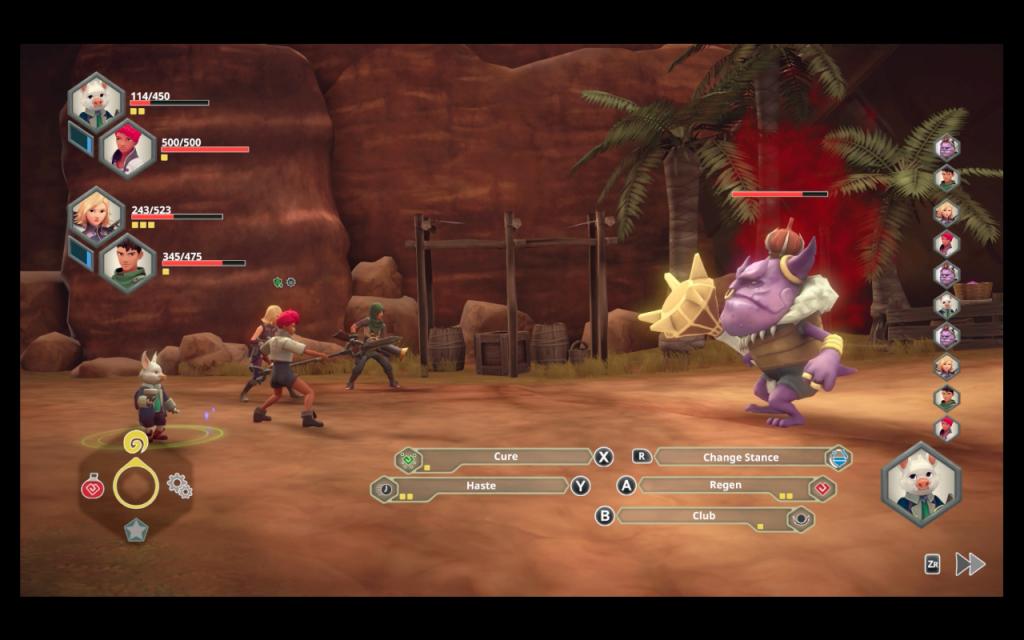Earthlock bandit king boss battle