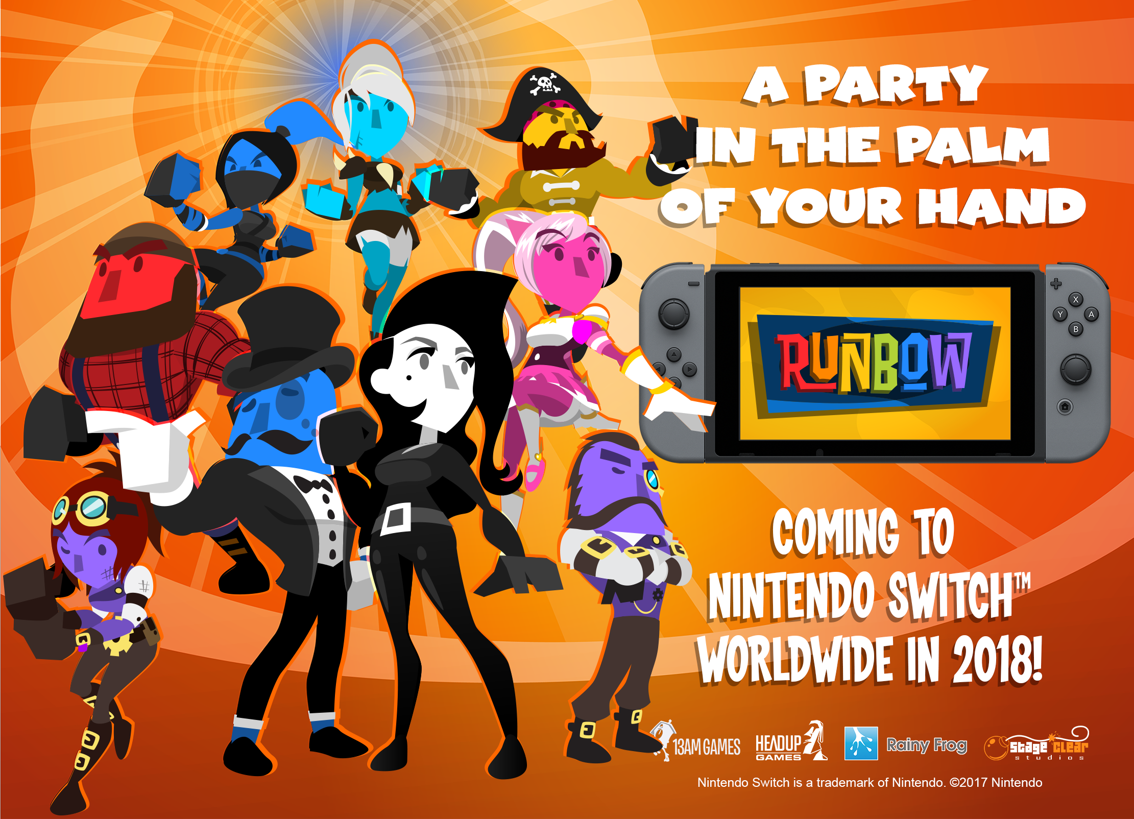 Runbow's release date for Nintendo Switch postponed